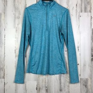 Nike | Dry-Fit Running Blue Long Sleeve 3/4 Zip